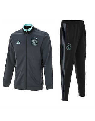 Pes Ajax Amsterdam Adidas Survetement Training Gris 2016 17 Poches avec zip