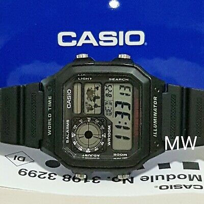 Latest Casio AE-1200WH-1A Resin Digital World Time Mens 100M Sports Alarms Watch
