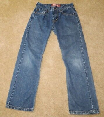 Levi's 514 Jeans Slim Straight Medium Denim Boys Kids Pants 12R 26 x 26 1/2