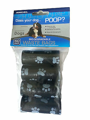Ancol Bio-Degradable Poop Waste Bags  60 Bags