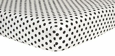 Black Dot Deluxe Flannel Fitted Crib Sheet