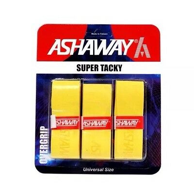 Ashaway Super Tacky Overgrip - Pack Of 3 Yellow Grips - Rrp £10