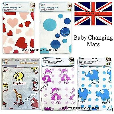 Cute Baby Blue or Pink Foldable Changing Baby Mat Waterproof wipe Home Travel
