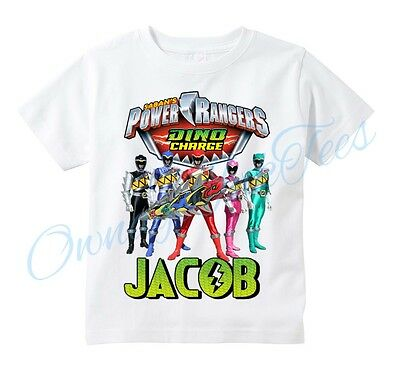 Power Rangers Dino Charge Custom T-shirt PERSONALIZE Birthday ADD NAME