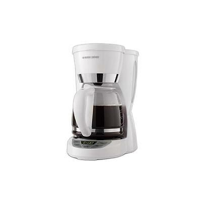 Black  Decker 12-Cup Programmable Coffeemaker with Carafe, White