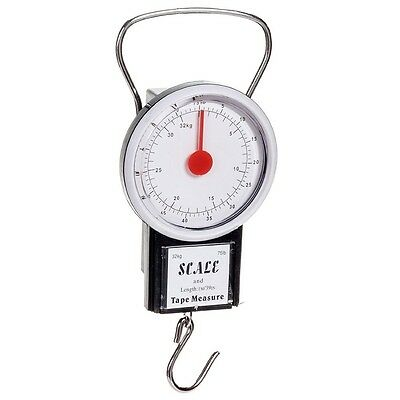 Luggage Weight Scale with 1 Meter Tape Measure, 75 Pound Capacity