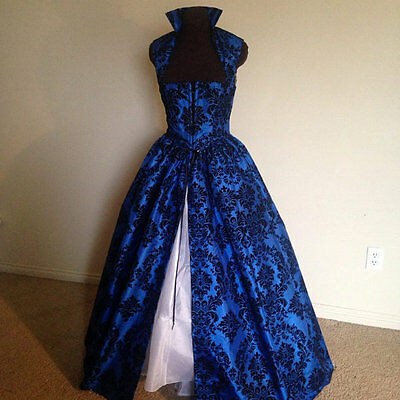 Royal Blue Renaissance Dress Gown Costume many Sizes Available & more colors!
