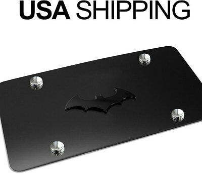 NEW 3D BatMan Dark Knight Black Stainless Steel Vanity License Plate BATMAN BB