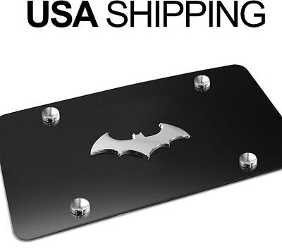 NEW 3D BatMan Dark Knight Black Stainless Steel Vanity License Plate BATMAN BC