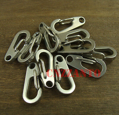 "5pcs 1"" Stainless steel Quick link Carabiner Spring Snap Hook Clip 26mm"