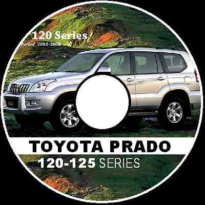 TOYOTA PRADO 120 125 SERIES 2002-2008 RZJ KZJ KDJ Workshop Manual CD