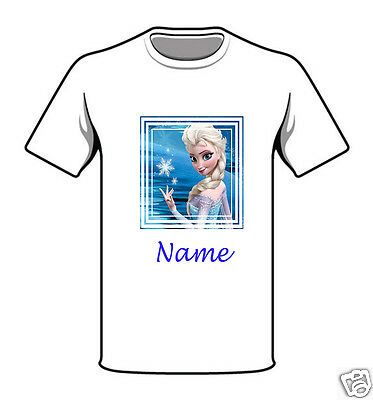 Personalised Children's T-Shirt - Frozen - Named - Style 15