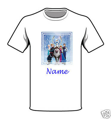 Personalised Children's T-Shirt - Frozen - Named - Style 19