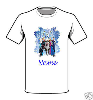 Personalised Children's T-Shirt - Frozen - Named - Style 11