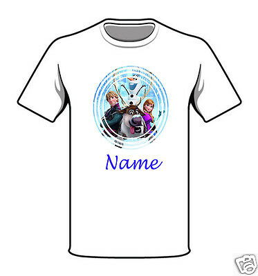 Personalised Children's T-Shirt - Frozen - Named - Style 2