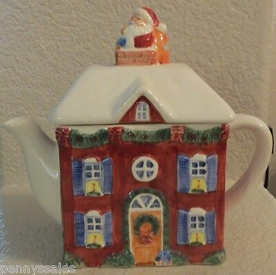 International China A Christmas Story House Teapot