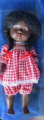 "Schildkrot Black Doll ANTIQUE 1940'S 13"" Hard Plastic"