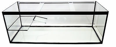 """Turtle/Terrapin tank with ramp and platform 60"""" x 18"""" x 18"""" open top"""