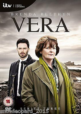VERA COMPLETE ITV SERIES 3 DVD All Episodes Third Season New Sealed UK R2 Rel.