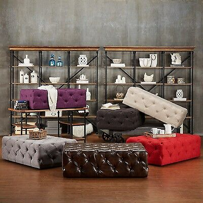 Tufted Ottoman Bench Stool Foot