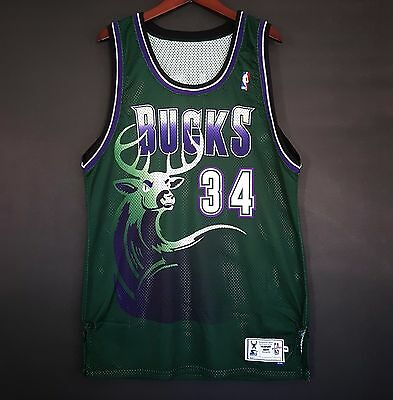 100% Authentic Ray Allen Starter 97-98 Bucks Pro Cut Jersey L 44