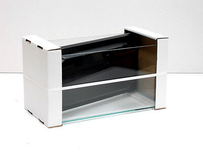 18x10x10 glass aquarium with hood 457mm x 254mm x 254mm brand new