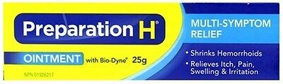 Canadian Preparation H Ointment With Bio-Dyne Multi-Symptom 25g Canada