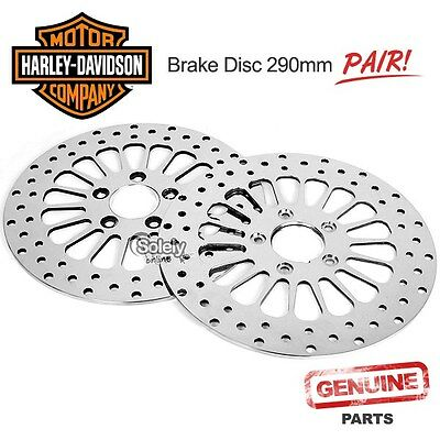 Harley-Davidson Brake Disc Rotor Bike Motorcycle Pair Rear+Front 290mm 5 Holes