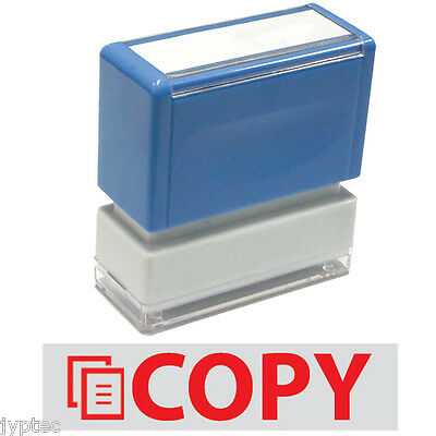"JYP PA1040 Rectangle Stock Pre-Inked Rubber Stamp with ""Copy"" & Pic"
