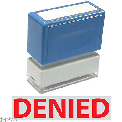 """JYP PA1040 Rectangle Stock Pre-Inked Rubber Stamp With """"Denied"""""""