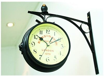 """NEW Antique Style """"London"""" Interior Double Sided Wall Clock Home Office Decor"""