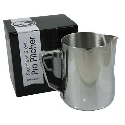 Rhinowares Professional Stainless Steel Milk Frothing Jug Pitcher 600ml