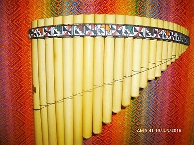 Amazing  Panflute 23  Pipes From Peru - Case Included-See Video