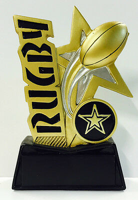 NRL Rugby League Union Resin Trophy Word Series Award 130mm FREE Engraving