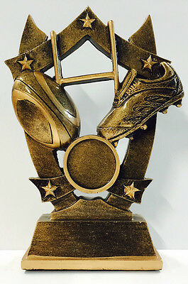 NRL Rugby League Union Resin Trophy Raptor Series Award 140mm FREE Engraving