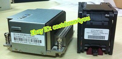 HP DL380e G8/GEN8 CPU cooling kits,heatsink 663673-001/677090-001,fan 654577-001