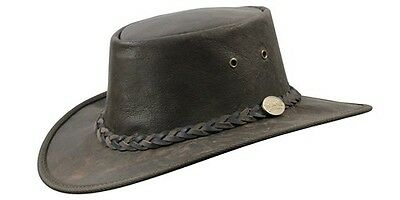 Barmah Squashy Kangaroo Leather Hat - Ironstone