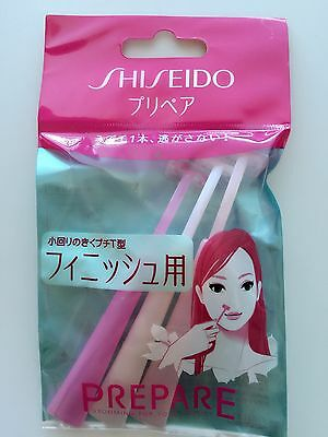 New Shiseido Japan PREPARE T Shape Safety downing fine Hair Shaving Razor 3P set