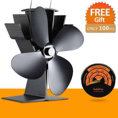 Whisper Quiet Heat Powered Wood Stove Fan Eco Stove Top Fan No Need Electricity