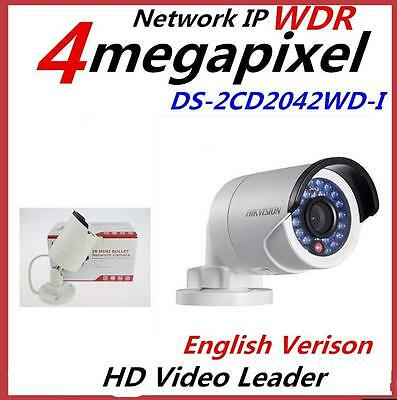 Hikvision WDR DS-2CD2042WD-I 4MP IR Bullet Network Camera with POE 4mm