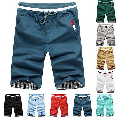 NEW Mens Men Summer Casual Sports Capri Pants Shorts Trousers Casual Cargo Pants