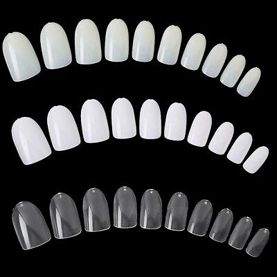 500pcs Faux Ongle Capsules Blanc French Nail Art Manucure Acrylique Gel UV Tips