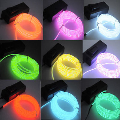 EL LED Interior Dash Ambient Footwell Strip Show Light VW BMW Audi Lexus Hyundai