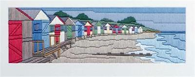 Twilleys Long Stitch Kit - Beach Huts Scene - all materials included - 2861/0001