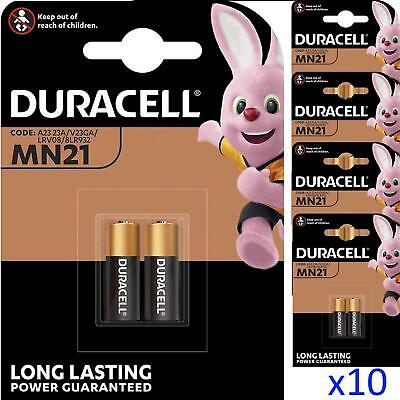10 x Duracell MN21 A23 12V Security Alkaline Battery 23A LRV08 Expiry 2019