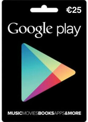 Google Play €25 Gift Card Key Android Euro Gift Certificate Karte Code