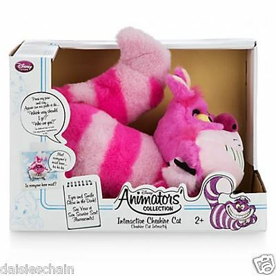 """Disney CHESHIRE CAT Animator Collection 11"""" Interactive TALKING Soft Plush TOY"""