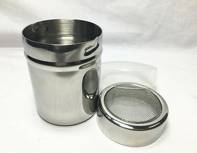 AZ Stainless Chocolate Cocoa Flour Shaker Icing Sugar Powder Coffee Sifter S/S