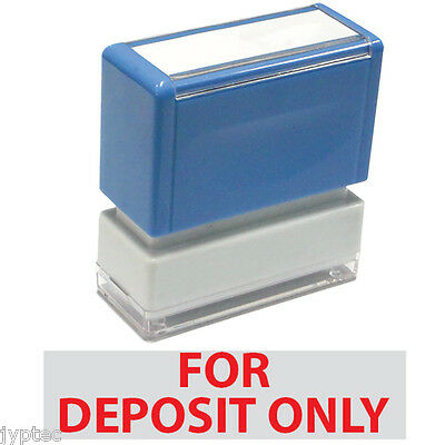 """For Deposit Only"" JYP PA1040  Pre-Inked Rubber Stamp Red Ink"
