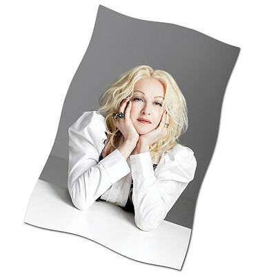 "Cyndi Lauper Flag Banner 29"" NEW She's So Unusual Tour Time After Time"